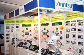 Exhibition Booth of Anritsu