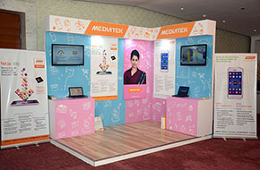 Exhibition booth of MediaTek